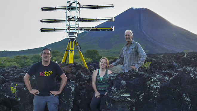 USF Geologists studying volcano