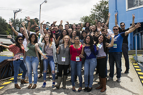 Team MERA during the epidemiological survey training at the Costa Rican Water and Sewage Authority's Water Laboratory (LNA), led by Maryann Cairns, PhD, from Southern Methodist University (SMU) and Erin Symonds, PhD, from the University of South Florida (USF) with Costa Rican university students, LNA employees, and SMU/USF graduate students.