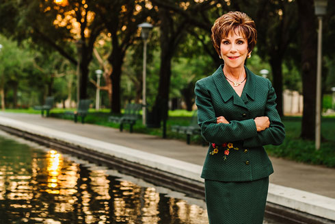 President Judy Genshaft standing at USF Tampa campus