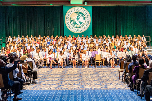 USF Health Morsani College of Medicine's newest students at the white coat ceremony