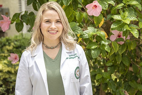 USF nursing student and United States Air Force veteran Grete Lenz