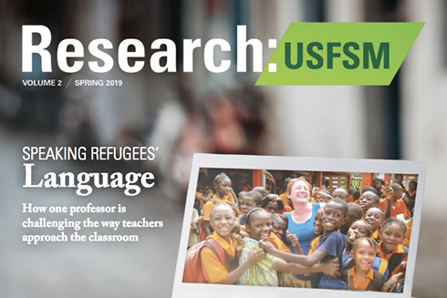 The cover of the USF Sarasota-Manatee Research Magazine featuring this article