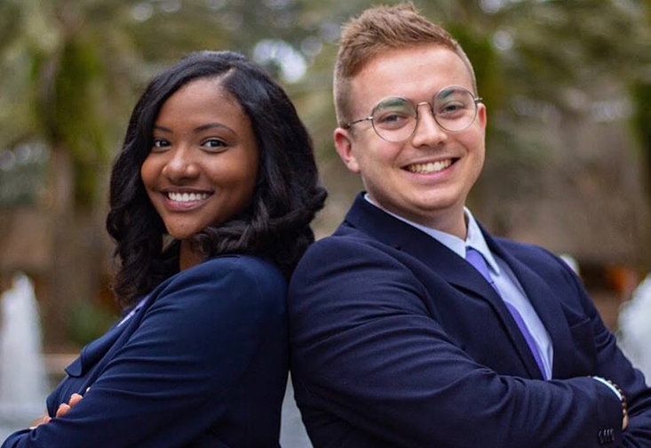 Student Body President Britney Deas and VIce-Presidet Travis McCloskey