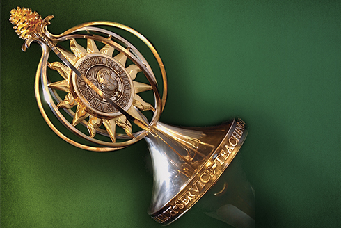 The USF mace, which will be used during inauguration