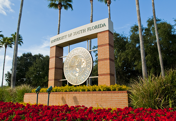 The entrance sign at USF Tampa