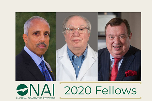 A graphic showing 3 USF faculty members that are new NAI fellow