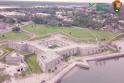 The DHHC has collaborated with the National Park Service to 3D document the entirety of the Castillo de San Marcos National Monument and are now creating new ways to visit the site using VR and virtual tour options.