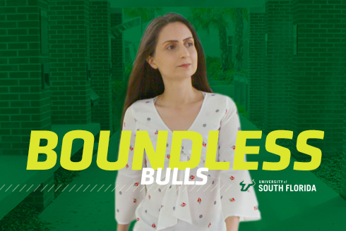 Boundless Bulls Graphic featuring Fatemeh Rasouli (Green bacground, yellow lettering