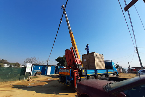 The Newgenerator unit on site in South Africa