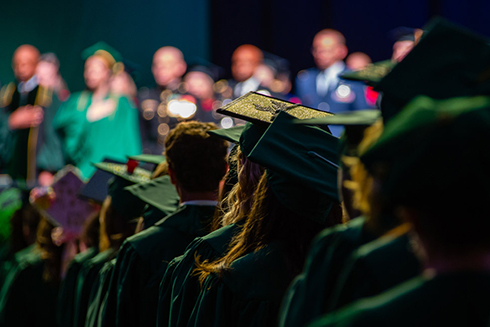 A photo from a previous USF commencement ceremony