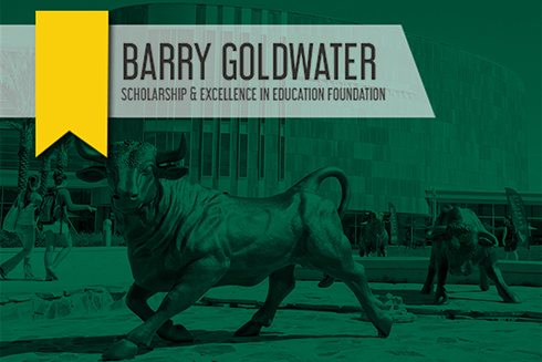 Goldwater Graphic on a photo of the USF campus