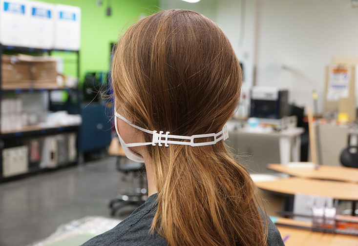 The ear-saver device created by USF engineers