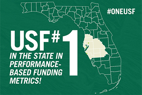 A graphic showing the state of Florida and stating
