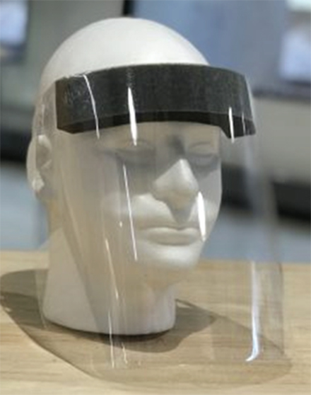 face shield created at USF