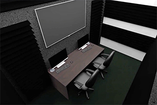 Rendering of the production space of the Esports site