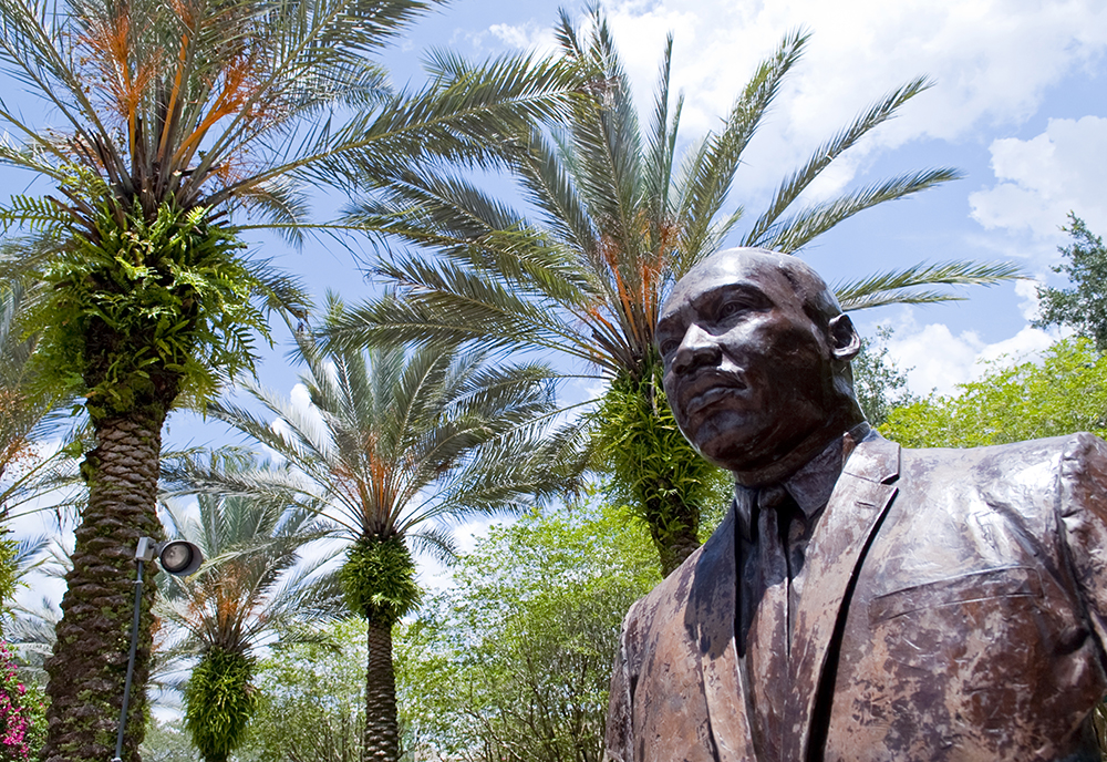 Martin Luther King Jr. bust on the University of South Florida's campus