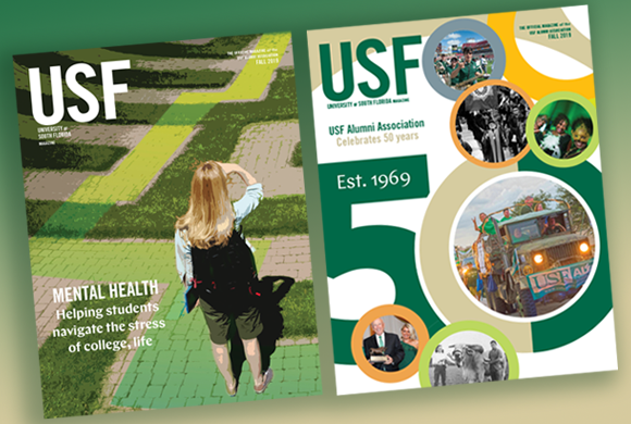 Fall 2019 issue of USF Magazine