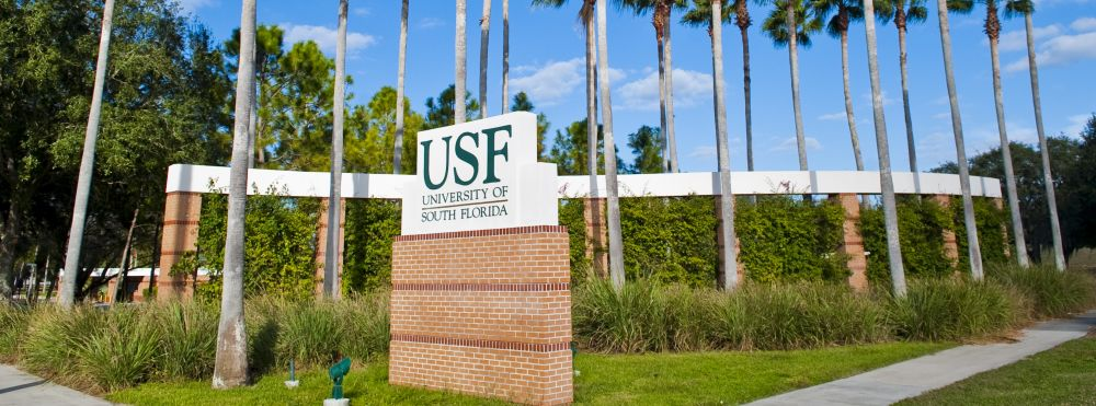 Front sign of USF