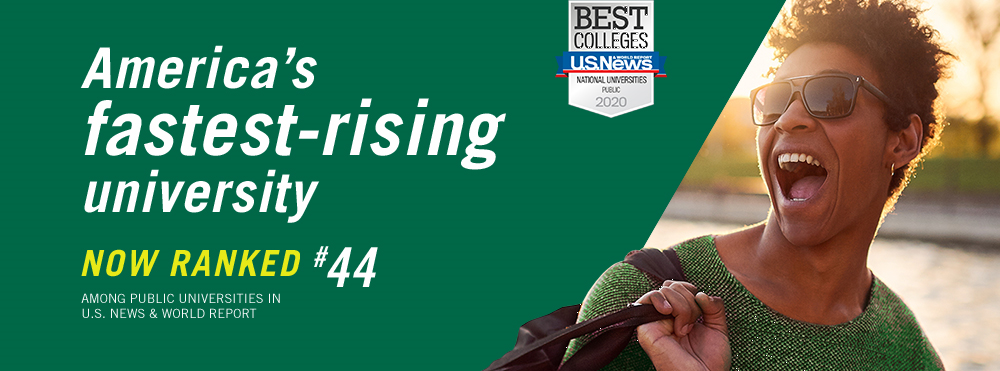 USF ranks #44 in the 2020 U.S. News and World Report (USNWR) National University Rankings