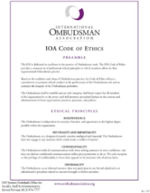 IOA Code of Ethics