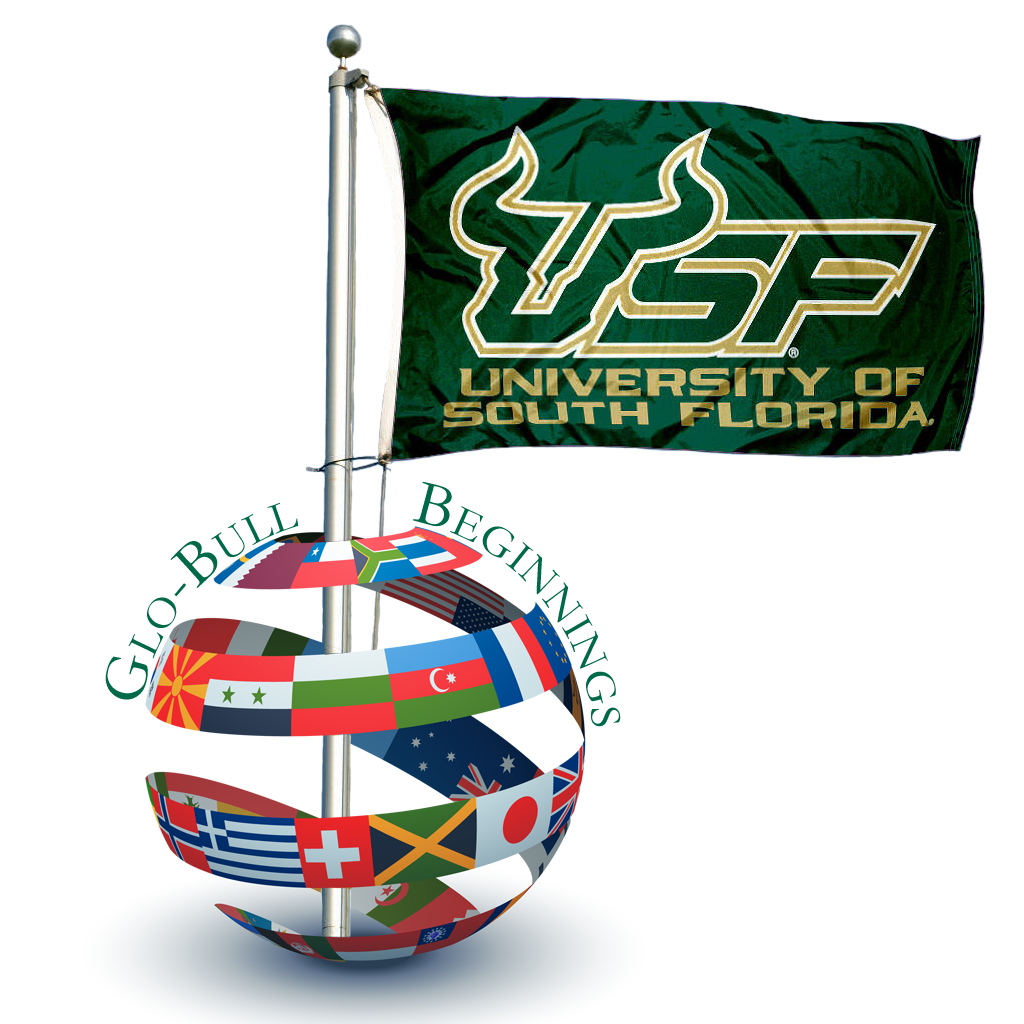 Glo-Bull Beginnings Globe with USF Flag