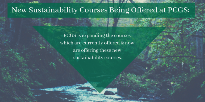 New Sustainability Courses