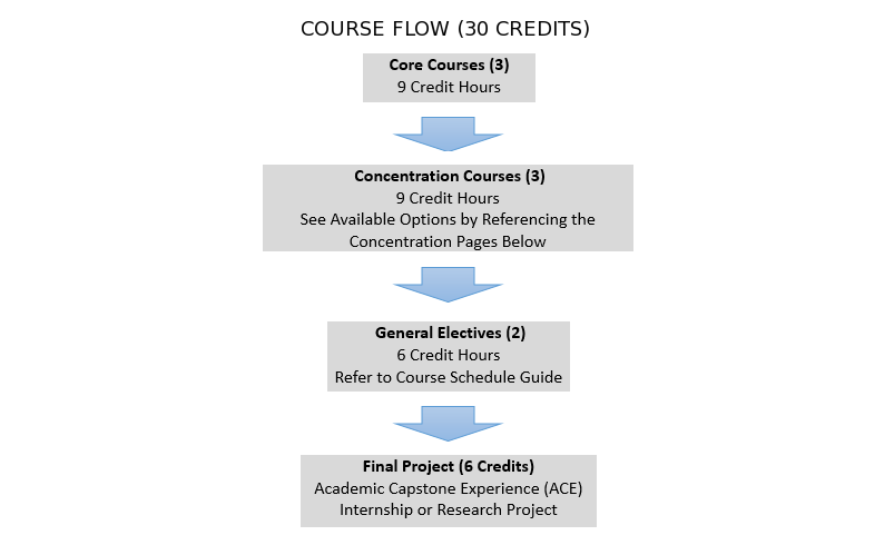MA program course flow