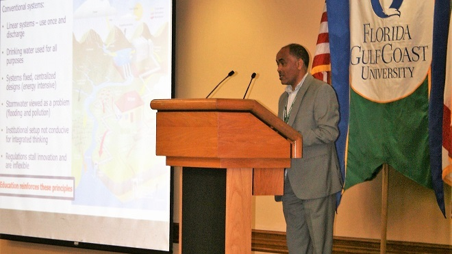 Dr. Ghebremichael Speaks at the Sustainable Water Resources Round Table