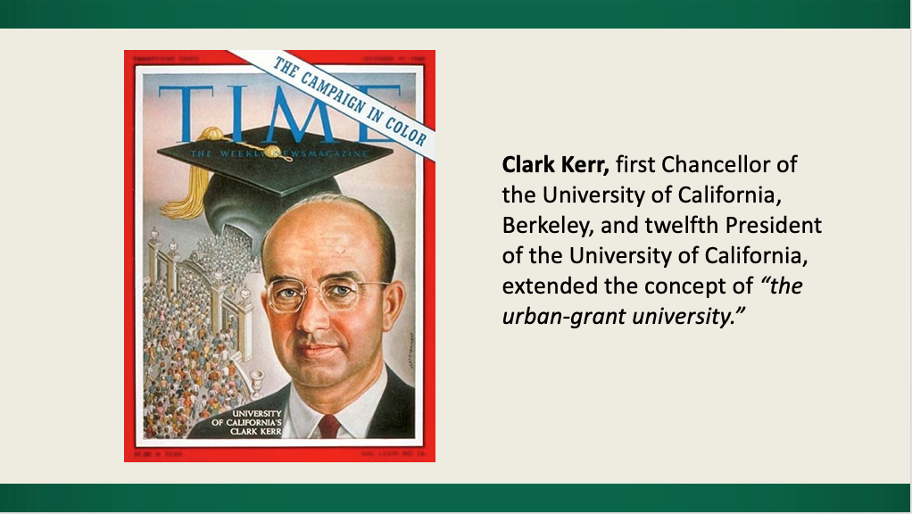 TIME magazine cover showing Clark Kerr