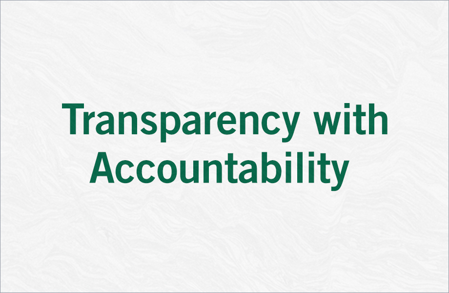 Transparency with Accountability