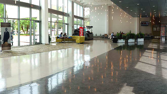 The Galleria connecting 3720 and 3802 Spectrum Blvd. was designed to accommodate large groups and provides an excellent atmosphere for receptions and banquets.
