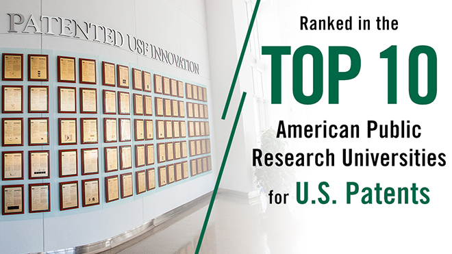 New Global University Patent Rankings Again Places USF in World's Top Institutions