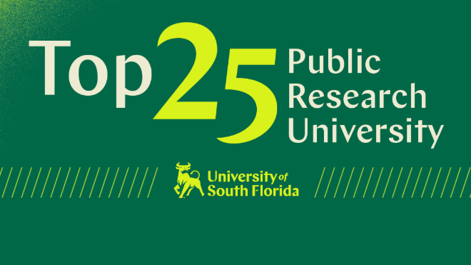 USF Rises to Top 25 in National Research Rankings