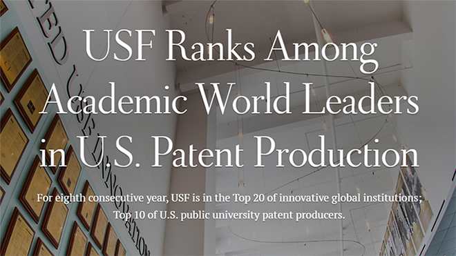 USF Ranks Among Academic World Leaders in U.S. Patent Production