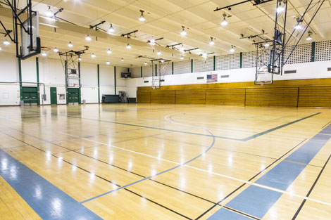 north gym campus rec usf basketball court