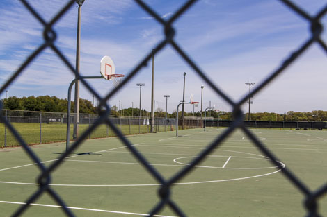 outdoor basketball courts for rent game tournament