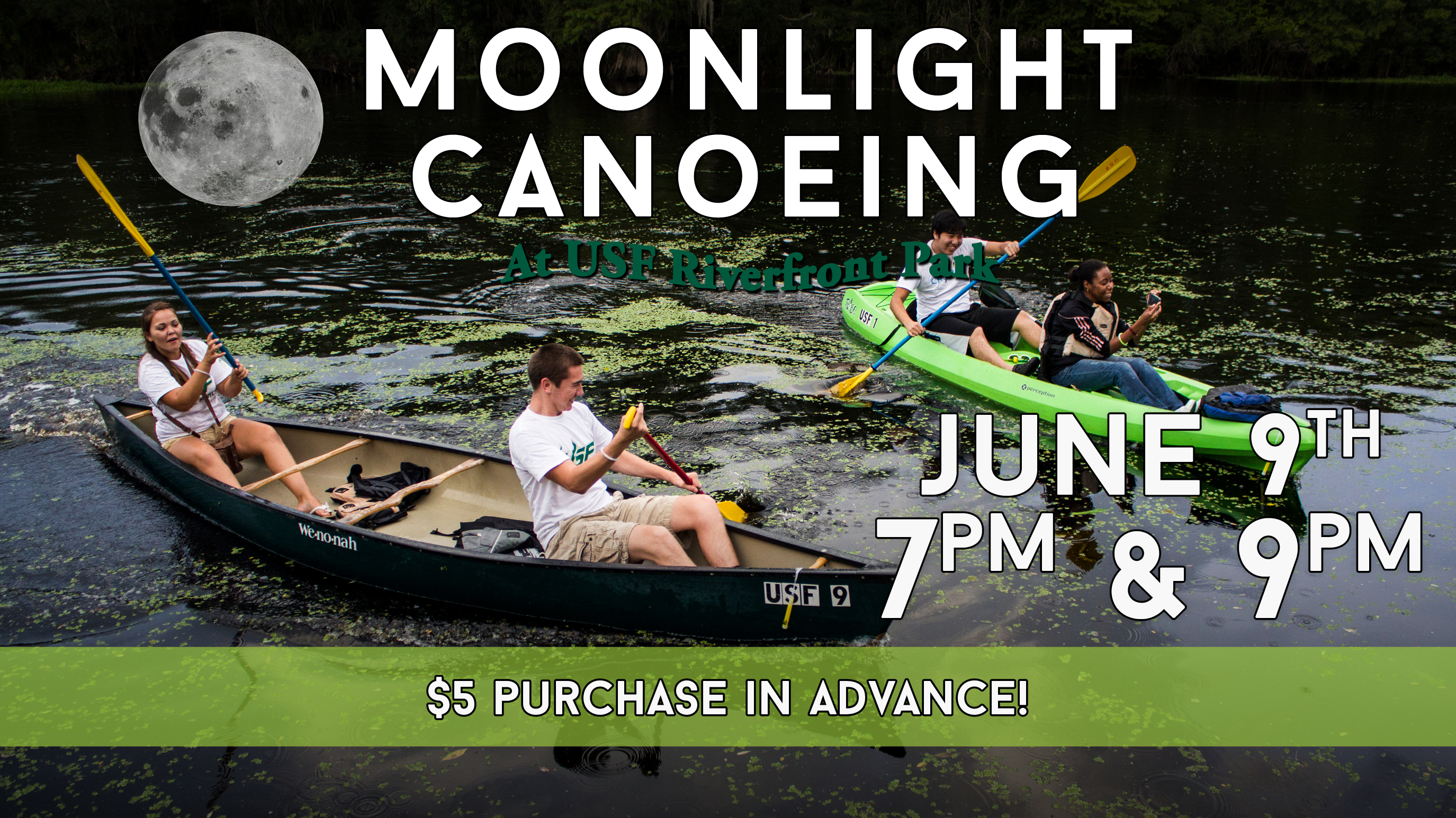 Moonlight Canoeing