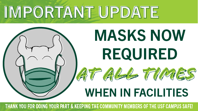 Masks are now required at all times