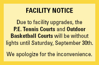 Tennis Court Closure
