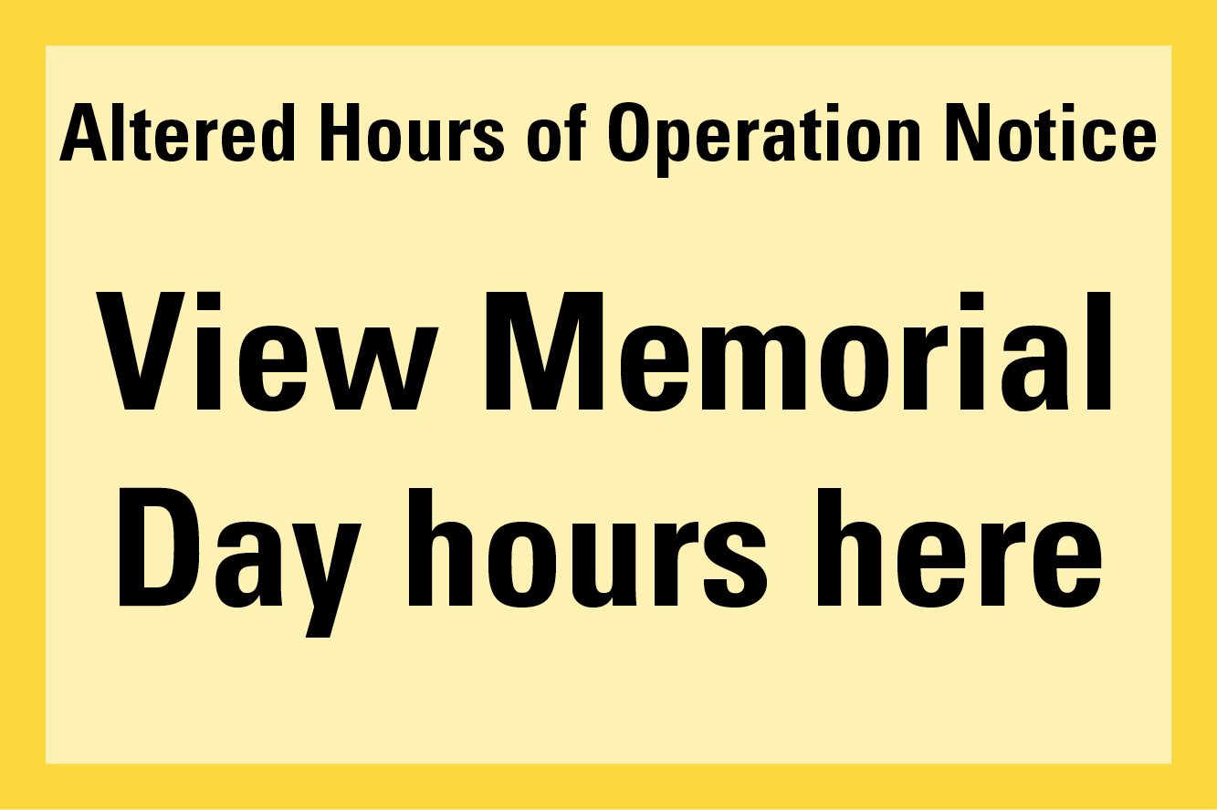 Altered hours of operation