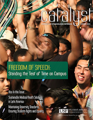 Spring 2016 Issue of the Catalyst Cover