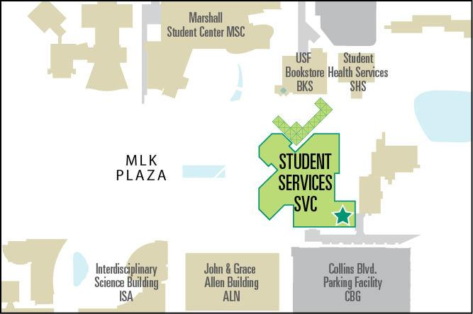 Map to the Counseling Center