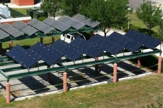 Solar PV System at Engineering/CUTR Parking Area