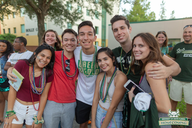 Group of USF students