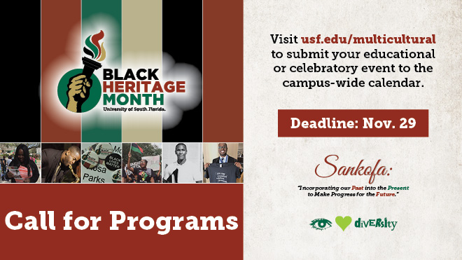 Black Heritage Month 2019 Call for Programs