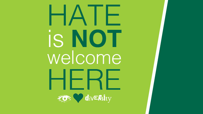 HATE is NOT welcome HERE