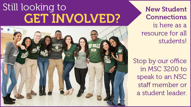 Flyer with usf students smiling