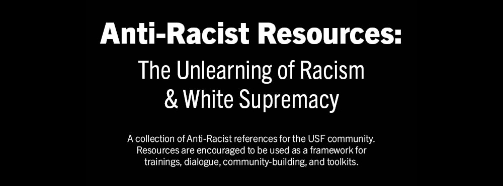 anti-racism resources document graphic