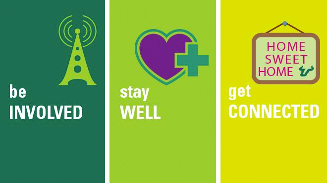 Be involved. Stay well. Get Connected graphic