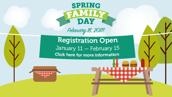 Spring Family Day Registration